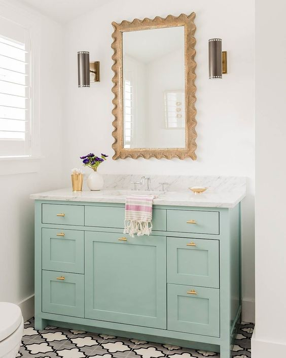 colored bathroom vanity 22