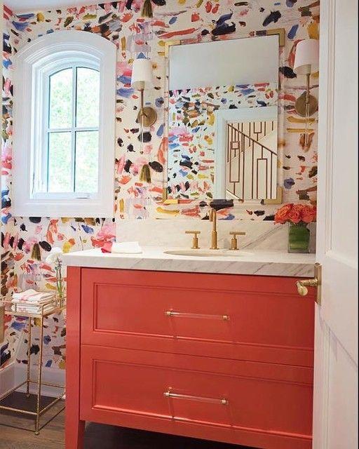 colored bathroom vanity 6