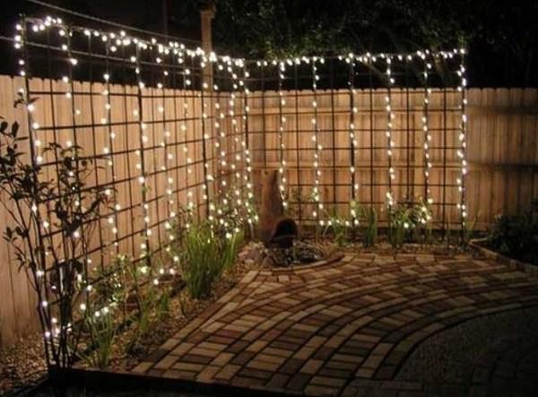 diy backyard lighting feature