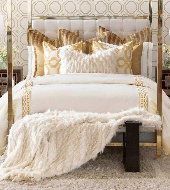 gold bedroom ideas 2