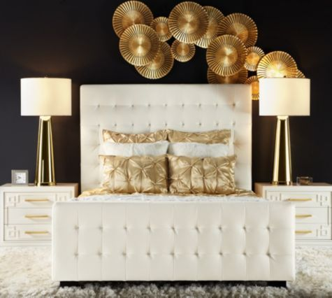 gold bedroom ideas 9