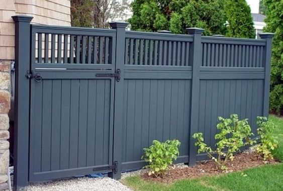 modern vinyl fence 13