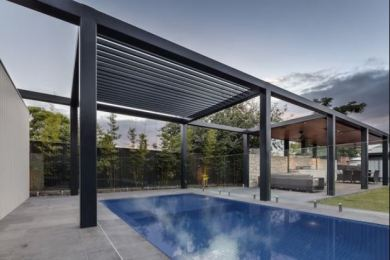 pergola pool feature