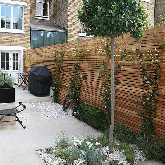 Modern Wood Fence 10