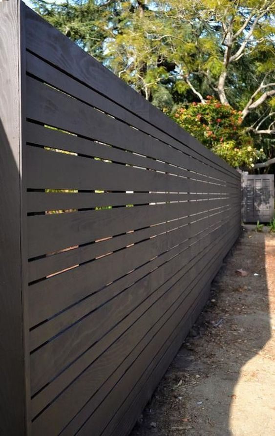 Modern Wood Fence 12