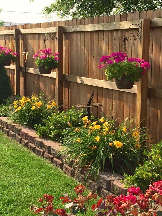 Modern Wood Fence 16