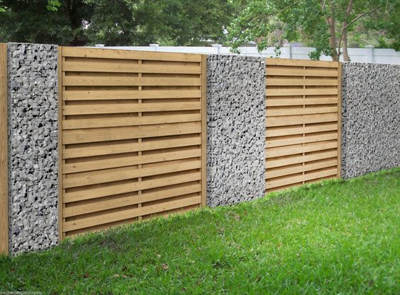 Modern Wood Fence 24