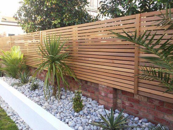 Modern Wood Fence 3
