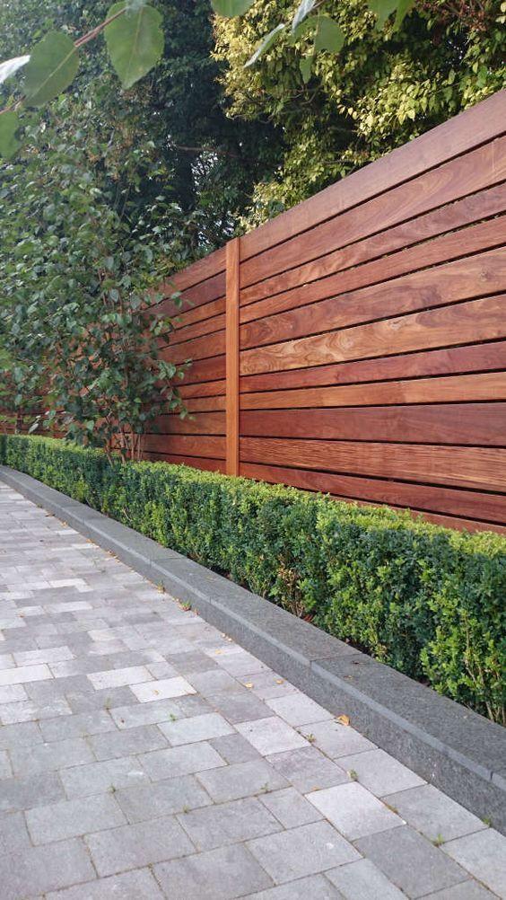Modern Wood Fence 4