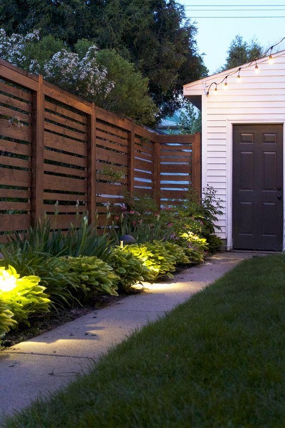 Modern Wood Fence 6