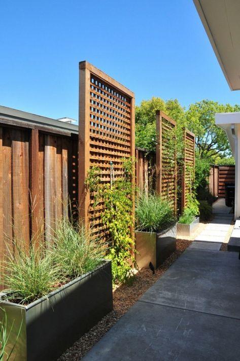 Modern Wood Fence 8