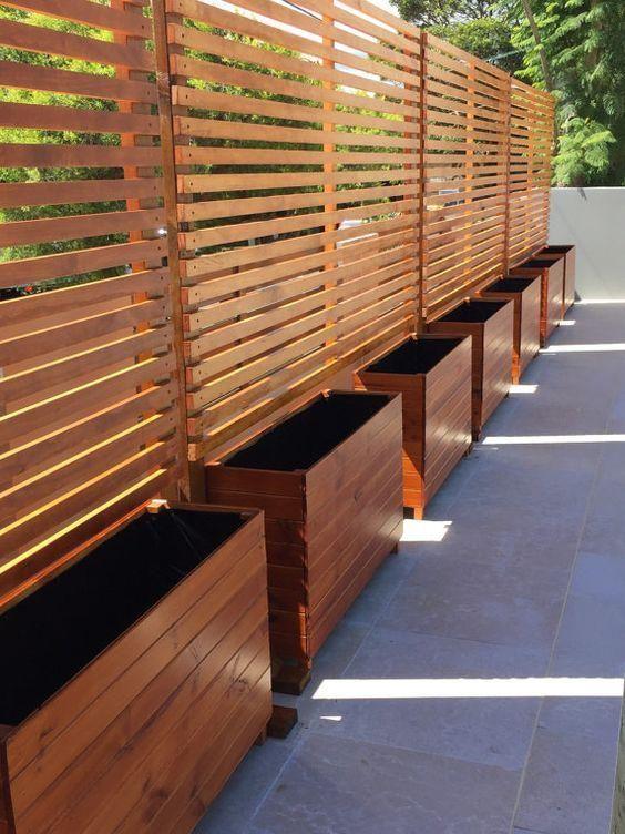 Modern Wood Fence 9