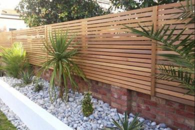 Modern Wood Fence feature