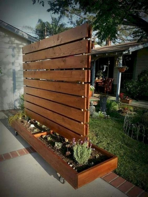 fence landscaping ideas 1