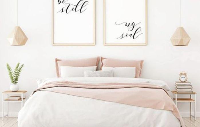 modern girls bedroom feature