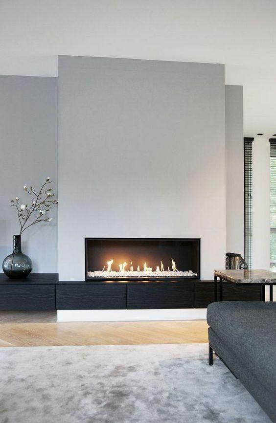 modern living room fireplace 1