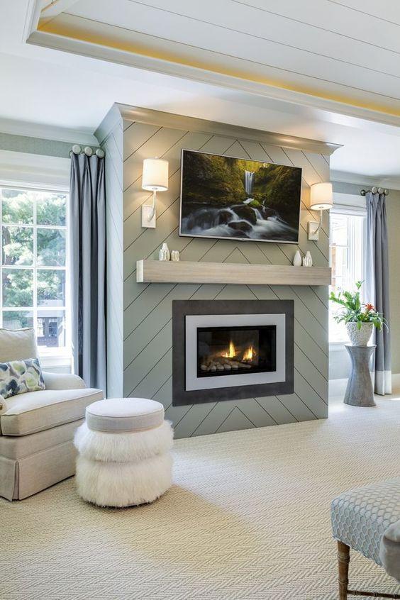 modern living room fireplace 11