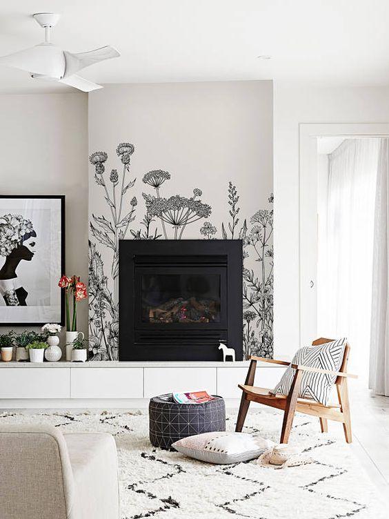 modern living room fireplace 12