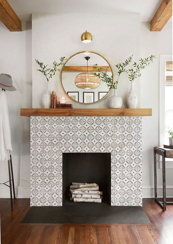 modern living room fireplace 13