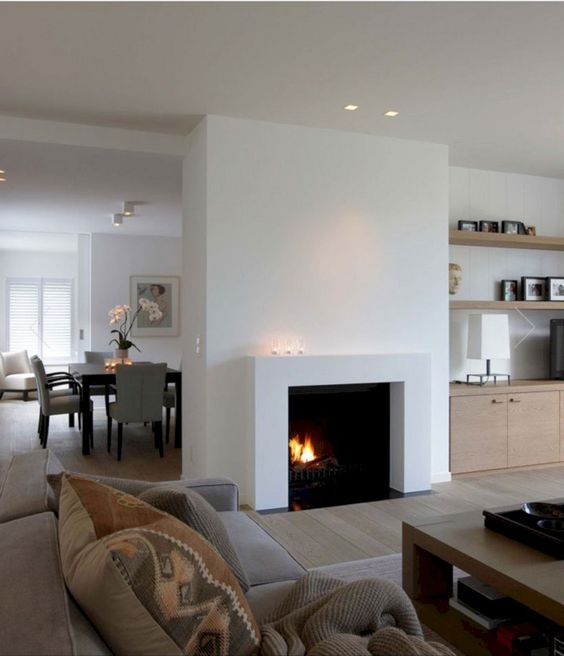modern living room fireplace 8