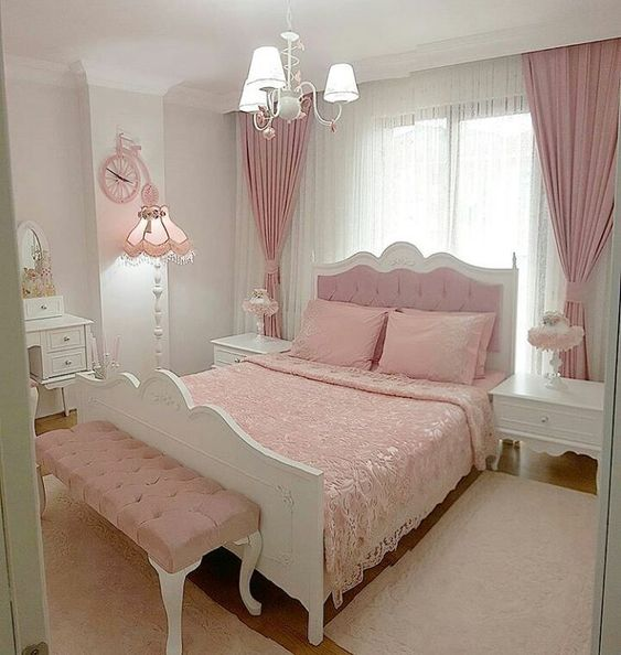 rose gold bedroom 5