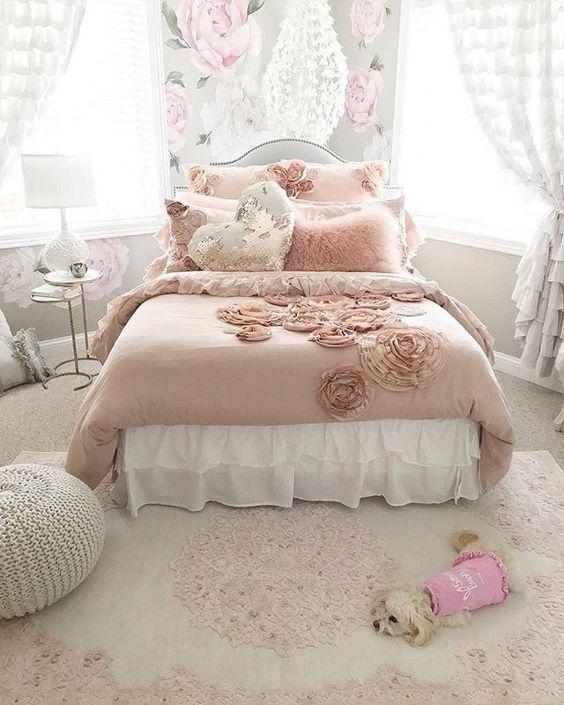 rose gold bedroom 7
