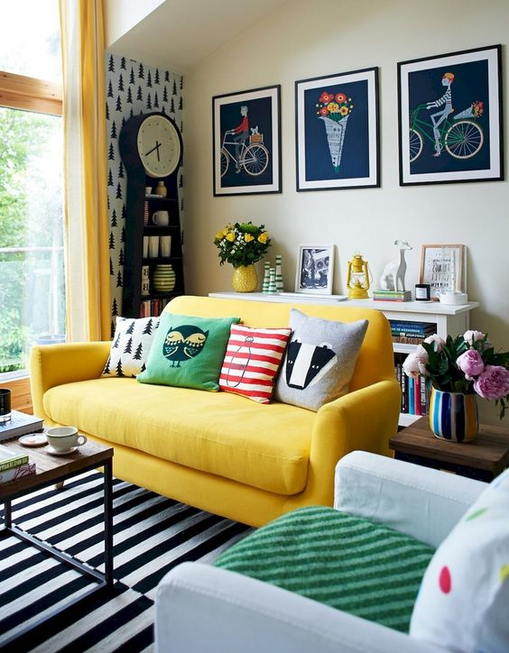 eclectic living room 15