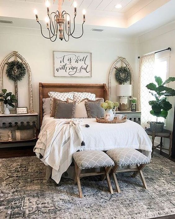 farmhouse bedroom decor 9