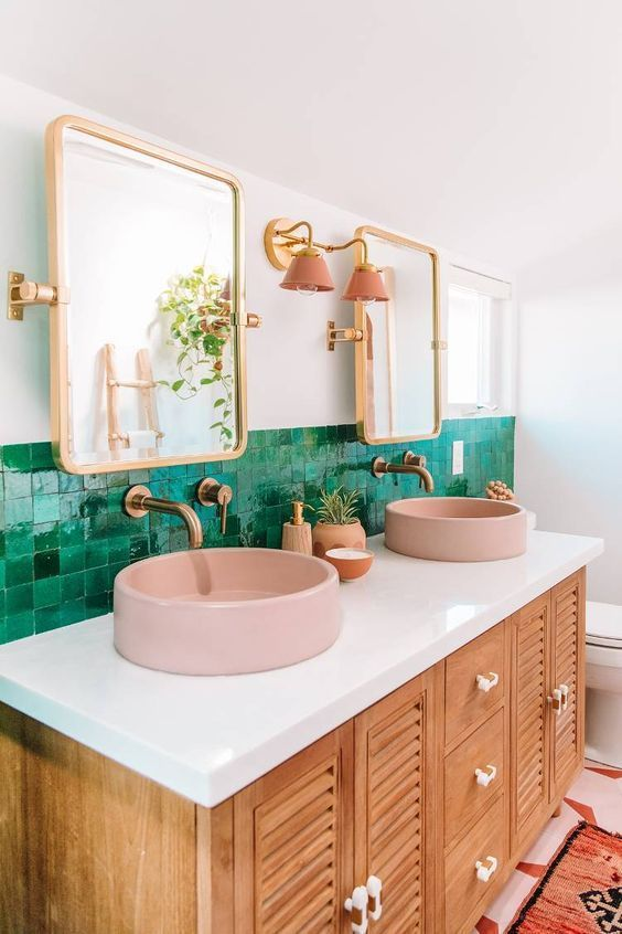 green bathroom ideas 11