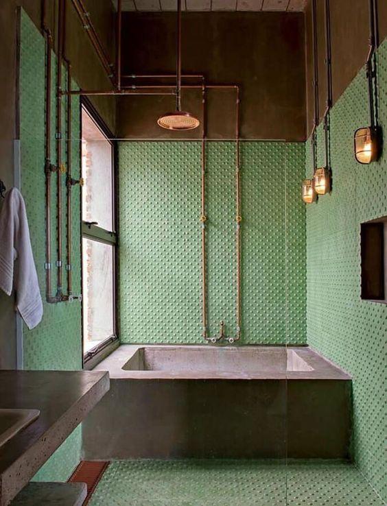 green bathroom ideas 14