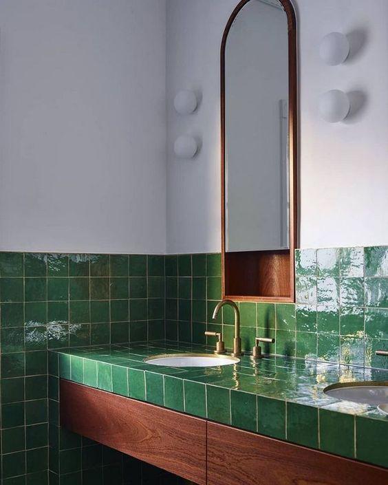 green bathroom ideas 15