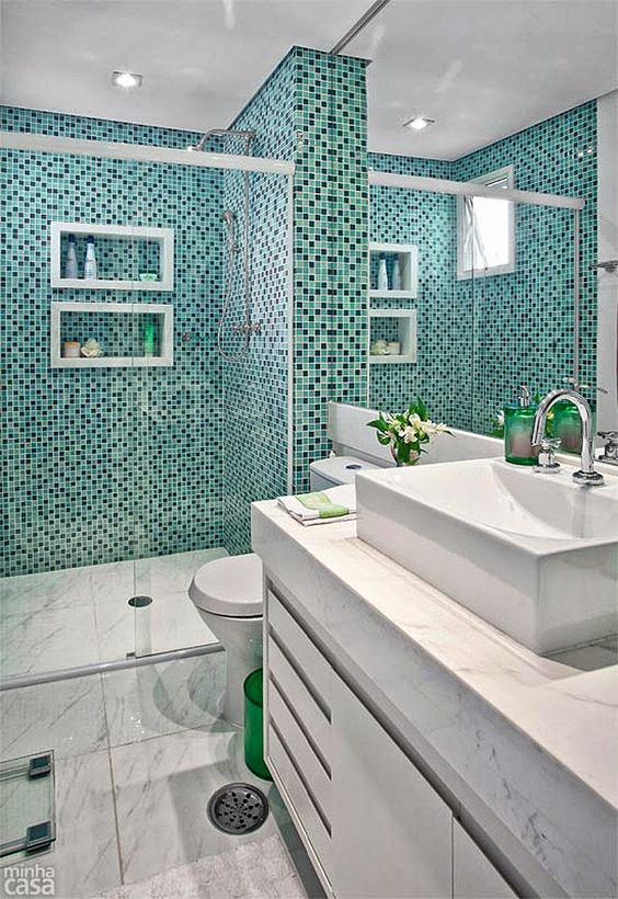green bathroom ideas 19