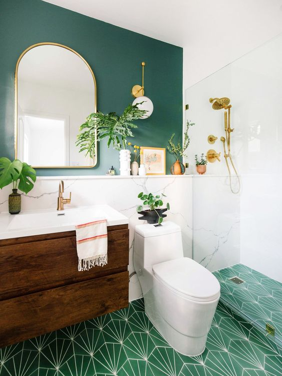 green bathroom ideas 21