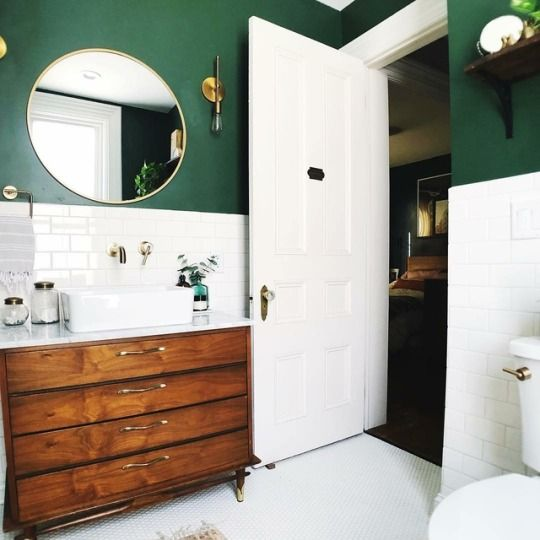 green bathroom ideas 22
