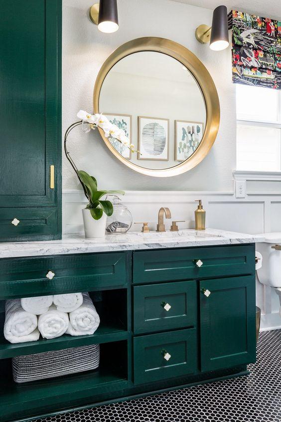 green bathroom ideas 23
