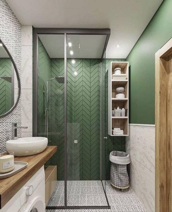 Green Bathroom Ideas: Neutral Decorative Decor
