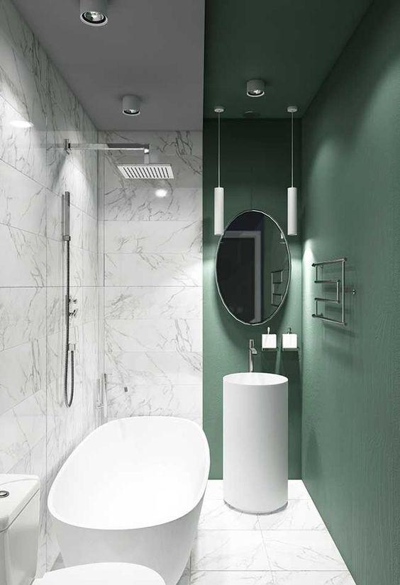 Green Bathroom Ideas: Decoratively Bright Bathroom