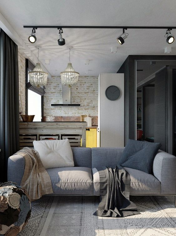industrial living room 23