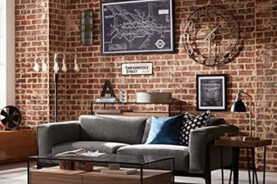 industrial living room feature
