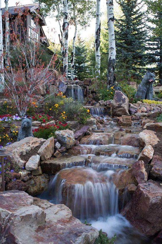 backyard waterfall ideas 22