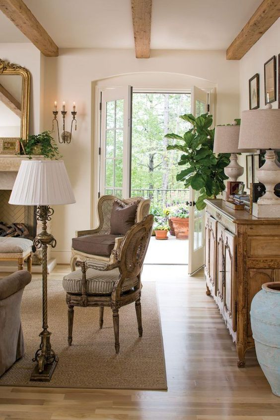 french country living room 18