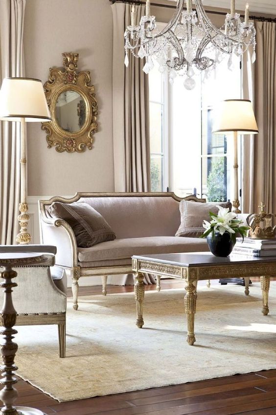french country living room 22