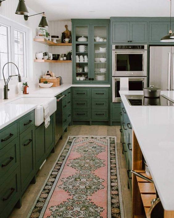 green kitchen ideas 1