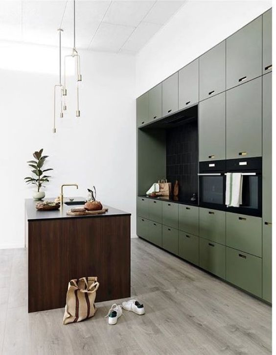 green kitchen ideas 16