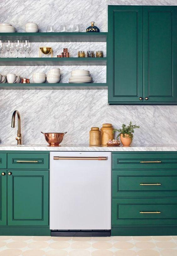 green kitchen ideas 17