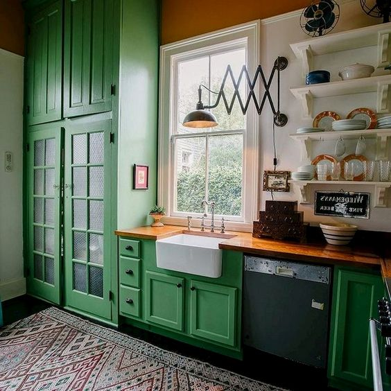 green kitchen ideas 18