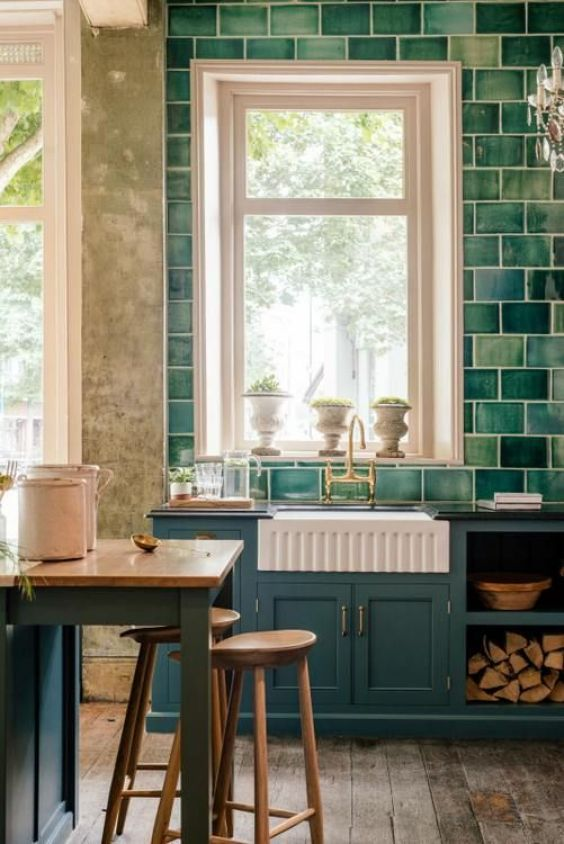 green kitchen ideas 22