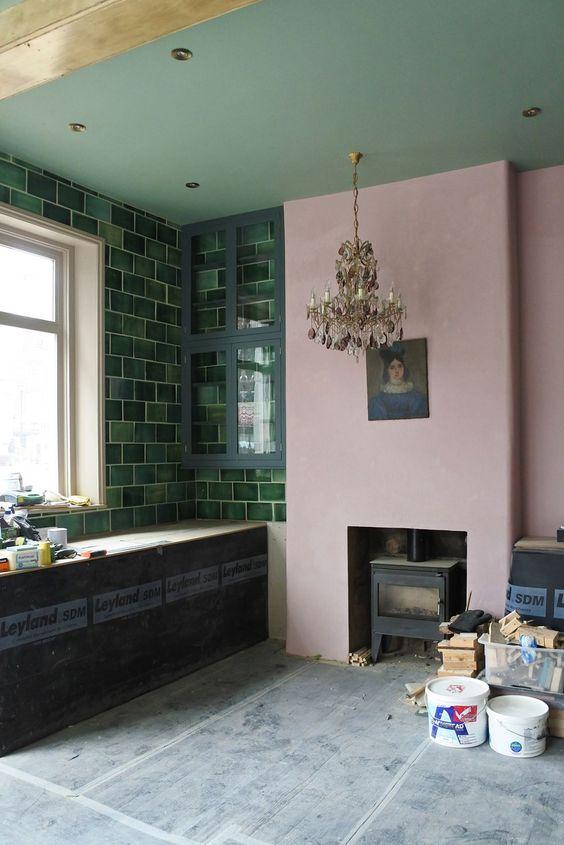 green kitchen ideas 23