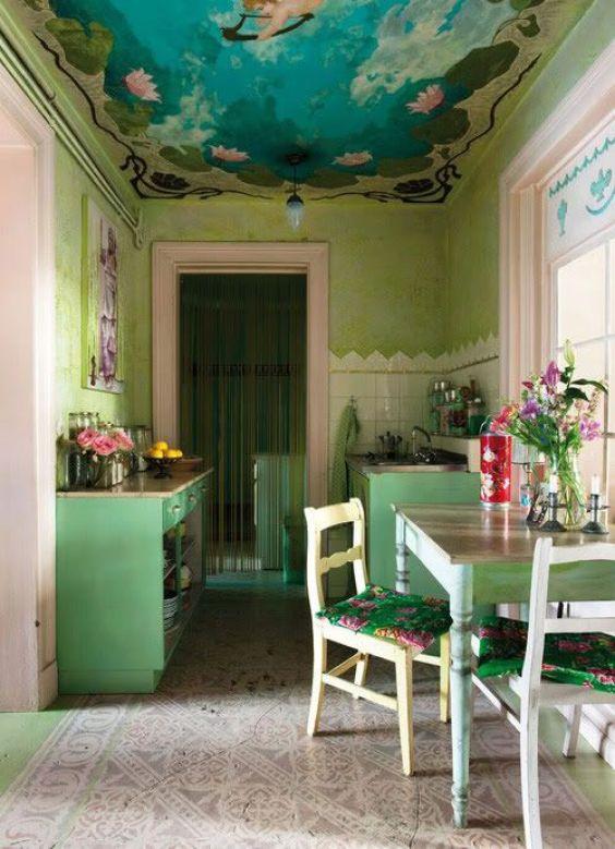 green kitchen ideas 24