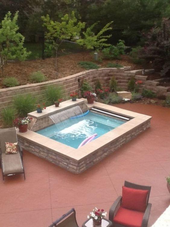 Small Swimming Pool: Earthy Rustic Design